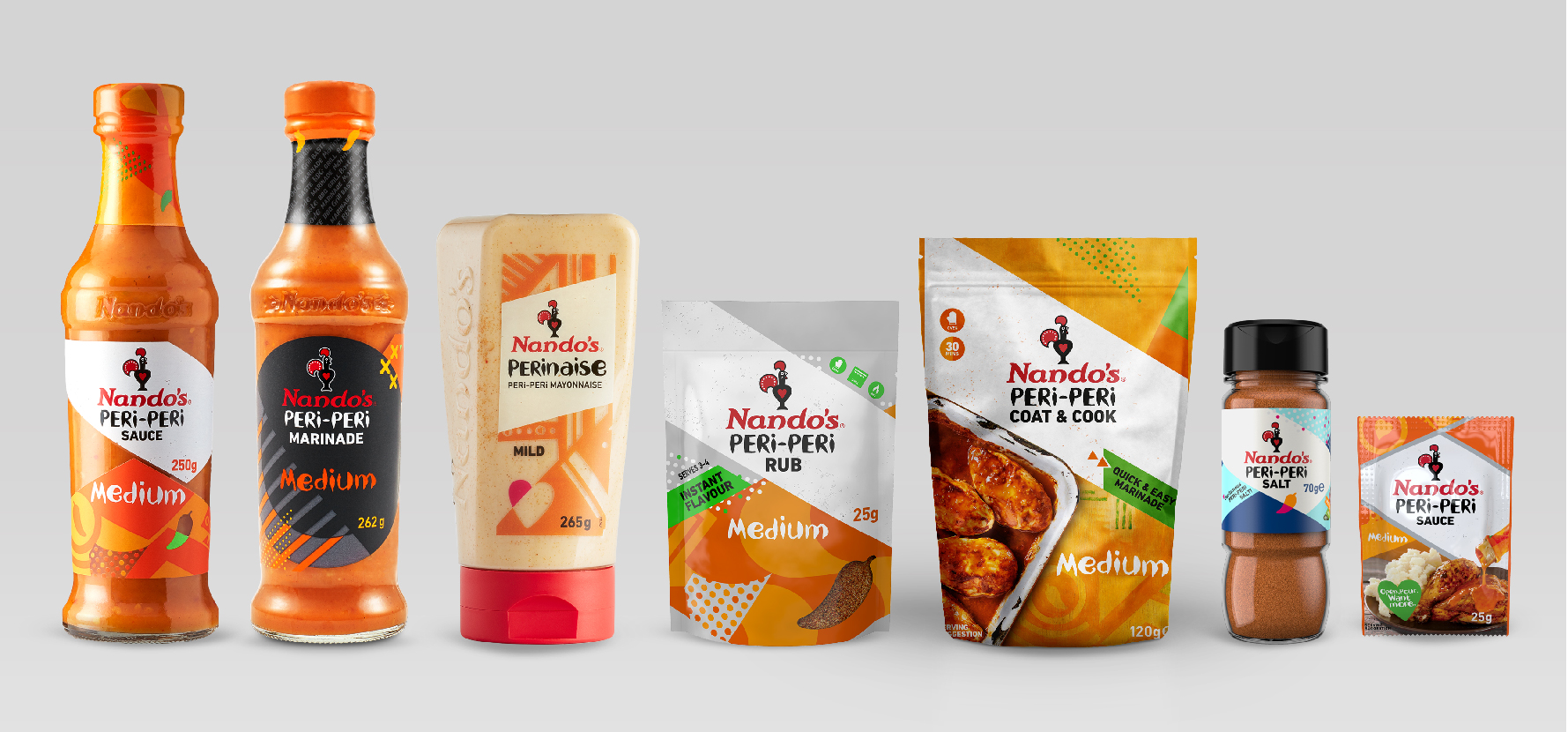 Nando's PERi-PERi packaging new